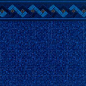 Azure Peak Tile / Indigo Mosaic Floor