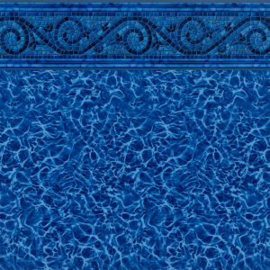 Siesta Wave Blue Tile / Blue Diffusion - Findlay Vinyl